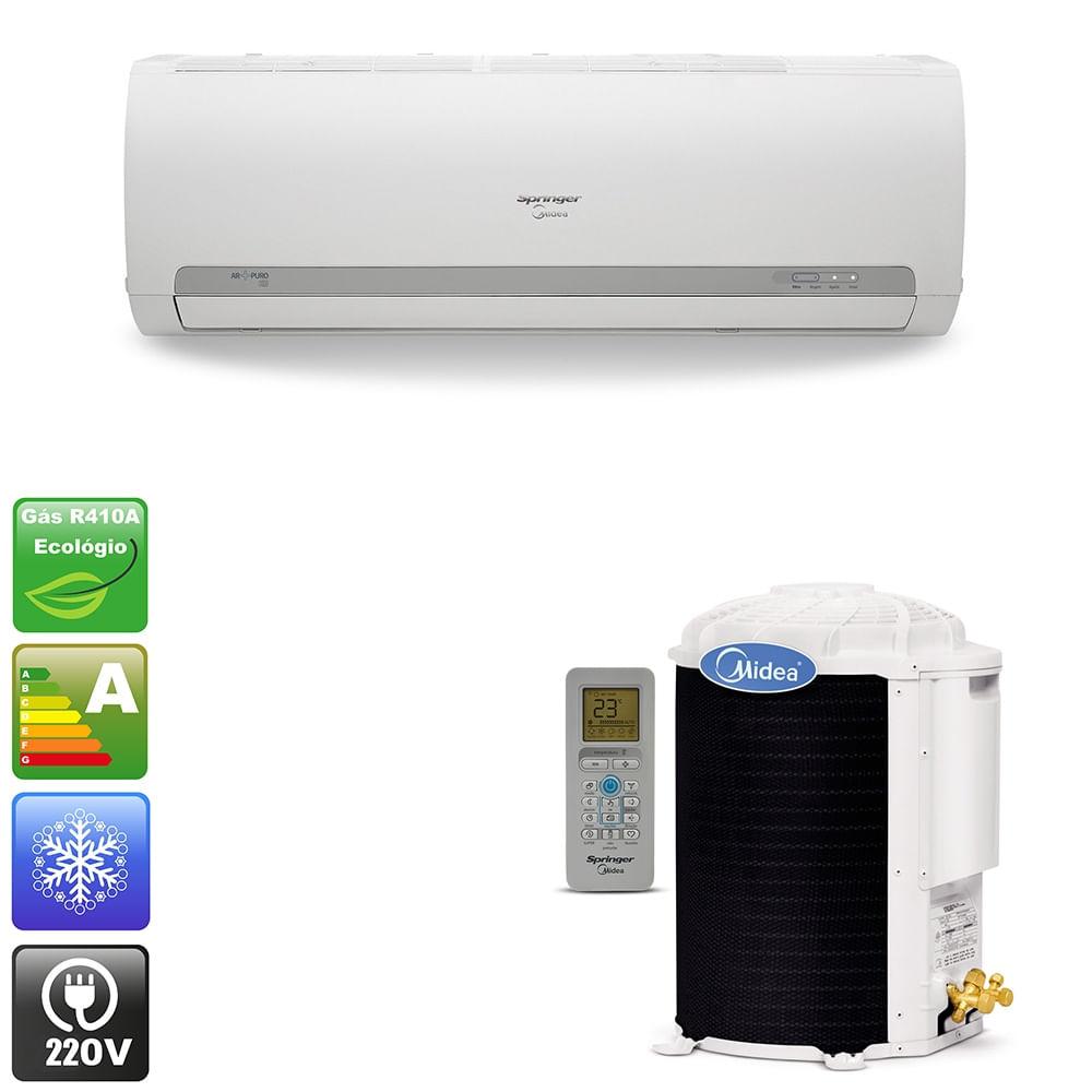e06c6d621 Ar condicionado split hi wall springer midea 12.000 Btu h frio - 220v